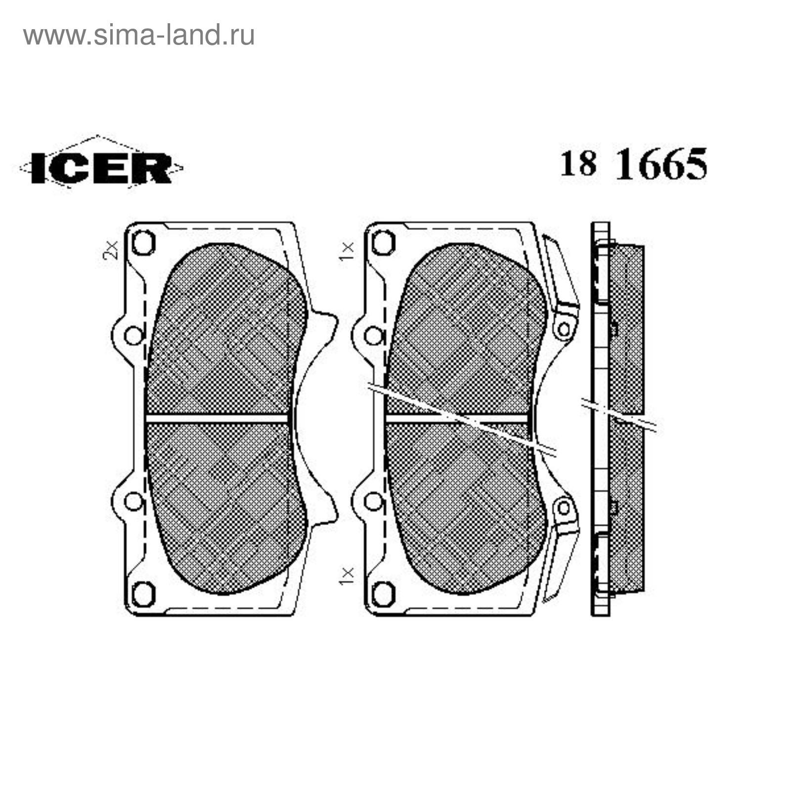 181665 BRAKE PAD SET, DISC BRAKE